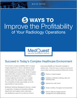 5 Ways to Improve the Profitability of Your Radiology Operations